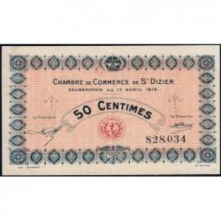 Saint-Dizier - Pirot 113-11 - 50 centimes - 17/04/1916 - Etat : SUP+