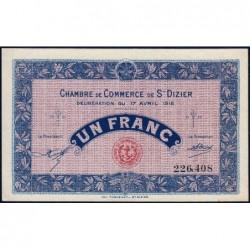 Saint-Dizier - Pirot 113-12 - 1 franc - 17/04/1916 - Etat : SPL