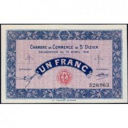 Saint-Dizier - Pirot 113-12 - 1 franc - 17/04/1916 - Etat : pr.NEUF