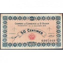 Saint-Dizier - Pirot 113-13 - 50 centimes - 12/12/1916 - Etat : TTB