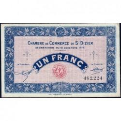 Saint-Dizier - Pirot 113-14 - 1 franc - 12/12/1916 - Etat : TTB
