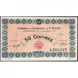 Saint-Dizier - Pirot 113-15 - 50 centimes - 07/11/1917 - Etat : SUP+