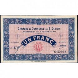 Saint-Dizier - Pirot 113-16 - 1 franc - 07/11/1917 - Etat : SPL