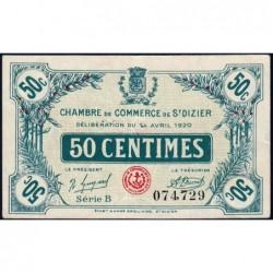 Saint-Dizier - Pirot 113-17 - 50 centimes - 14/04/1920 - Etat : TTB