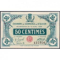 Saint-Dizier - Pirot 113-17 - 50 centimes - 14/04/1920 - Etat : SPL