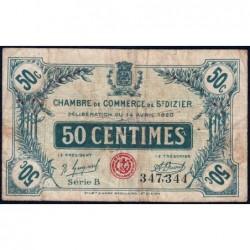 Saint-Dizier - Pirot 113-17 - 50 centimes - Série B - 14/04/1920 - Etat : B+