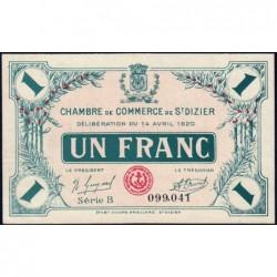 Saint-Dizier - Pirot 113-19 - 1 franc - Série B - 14/04/1920 - Etat : SUP+