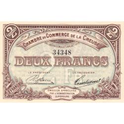 Gueret (Creuse) - Pirot 64-5 - 2 francs - Sans série - 27/07/1915 - Etat : SPL+