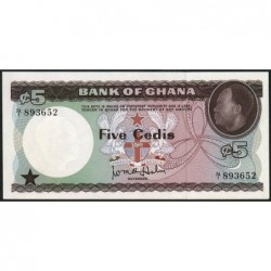 Ghana - Pick 6 - 5 cedis - Série N/1 - 1965 - Etat : NEUF