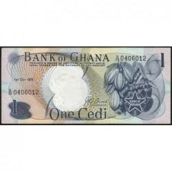 Ghana - Pick 10d - 1 cedi - Série G/20 - 01/10/1971 - Etat : SPL+