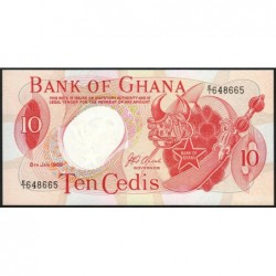 Ghana - Pick 11b - 10 cedis - Série E/1 - 08/01/1969 - Etat : SPL+