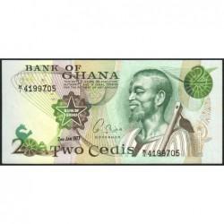 Ghana - Pick 14c_1 - 2 cedis - Série M/1 - 02/01/1977 - Etat : NEUF