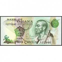 Ghana - Pick 14c - 2 cedis - Série N/1 - 02/01/1977 - Etat : NEUF