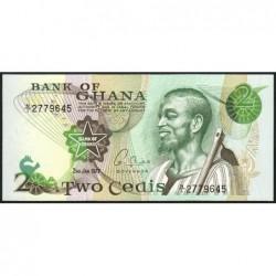 Ghana - Pick 14c_1 - 2 cedis - Série N/1 - 02/01/1977 - Etat : NEUF