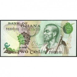Ghana - Pick 14c_1 - 2 cedis - Série Q/1 - 02/01/1977 - Etat : NEUF