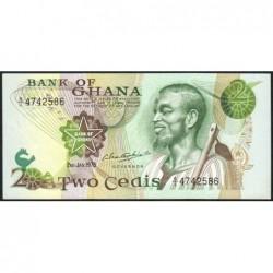 Ghana - Pick 14c - 2 cedis - Série S/1 - 02/01/1978 - Etat : NEUF