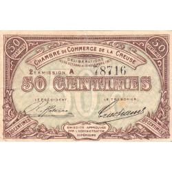 Gueret (Creuse) - Pirot 64-7 - 50 centimes - Série A - 2e émission - 26/10/1915 - Etat : TB+