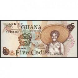 Ghana - Pick 15b - 5 cedis - Série G/1 - 02/01/1977 - Etat : NEUF