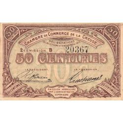Gueret (Creuse) - Pirot 64-7 - 50 centimes - Série B - 2e émission - 26/10/1915 - Etat : TTB