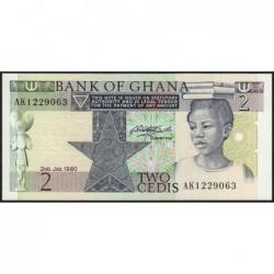 Ghana - Pick 18b - 2 cedis - Série AK - 07/02/1980 - Etat : NEUF