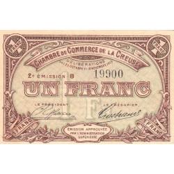Gueret (Creuse) - Pirot 64-9 - 1 franc - Série B - 2e émission - 26/10/1915 - Etat : TTB+