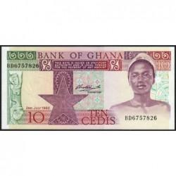Ghana - Pick 20c - 10 cedis - Série BD - 02/01/1980 - Etat : NEUF