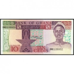 Ghana - Pick 20d - 10 cedis - Série BM - 06/03/1982 - Etat : SPL+