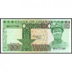 Ghana - Pick 21c - 20 cedis - Série BH - 06/03/1982 - Etat : NEUF