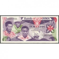 Ghana - Pick 23 - 10 cedis - Série C/1 - 15/05/1984 - Etat : NEUF
