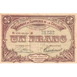 Gueret (Creuse) - Pirot 64-9 - 1 franc - Série B - 2e émission - 26/10/1915 - Etat : TB+