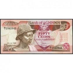 Ghana - Pick 25_3 - 50 cedis - Série M/1 - 15/07/1986 - Etat : NEUF