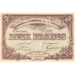 Gueret (Creuse) - Pirot 64-11 - 2 francs - Etat : TTB+