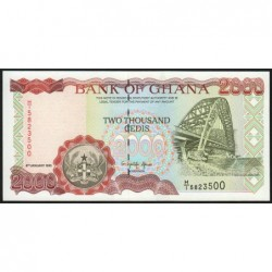 Ghana - Pick 30b - 2'000 cedis - Série H/1 -  06/01/1995 - Etat : NEUF
