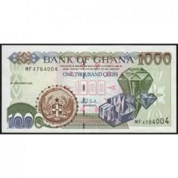 Ghana - Pick 32h - 1'000 cedis - Série MF - 02/09/2002 - Etat : NEUF