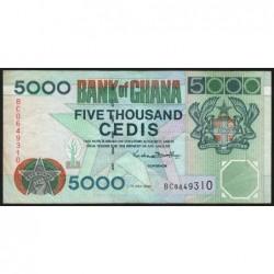 Ghana - Pick 34e - 5'000 cedis - Série BC -  01/07/2000 - Etat : TB+