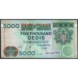 Ghana - Pick 34e - 5'000 cedis - Série BQ -  01/07/2000 - Etat : TTB
