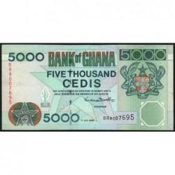 Ghana - Pick 34e - 5'000 cedis - Série BR -  01/07/2000 - Etat : TTB+