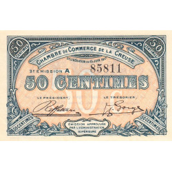 Gueret (Creuse) - Pirot 64-13 - 50 centimes - Série A - 3e émission - 15/06/1917 - Etat : SUP+