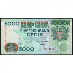 Ghana - Pick 34e - 5'000 cedis - Série BT -  01/07/2000 - Etat : SUP+