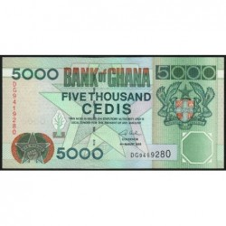 Ghana - Pick 34i - 5'000 cedis - Série DG - 04/08/2003 - Etat : NEUF