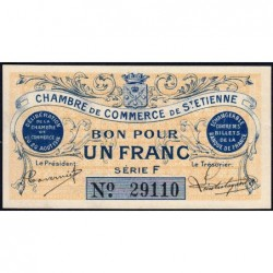 Saint-Etienne - Pirot 114-1 - 1 franc - Série F - 20/08/1914 - Etat : pr.NEUF