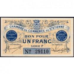 Saint-Etienne - Pirot 114-1 - Série F - 1 franc - 20/08/1914 - Etat : pr.NEUF