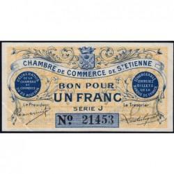 Saint-Etienne - Pirot 114-1 - Série J - 1 franc - 20/08/1914 - Etat : SUP+