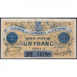 Saint-Etienne - Pirot 114-1 variété - Série J - 1 franc - 20/08/1914 - Etat : TTB