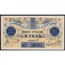 Saint-Etienne - Pirot 114-1 - 1 franc - Série P - 20/08/1914 - Etat : NEUF