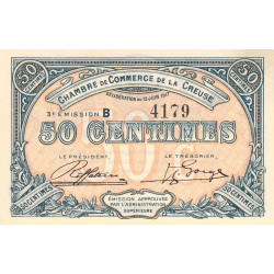 Gueret (Creuse) - Pirot 64-13 - 50 centimes - Série B - 3e émission - 15/06/1917 - Etat : TB
