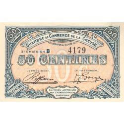 Gueret (Creuse) - Pirot 64-13-B - 50 centimes - 1917 - Etat : TB