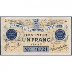 Saint-Etienne - Pirot 114-1 - 1 franc - Série P - 20/08/1914 - Etat : SUP