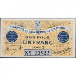 Saint-Etienne - Pirot 114-1 - 1 franc - Série S - 20/08/1914 - Etat : pr.NEUF