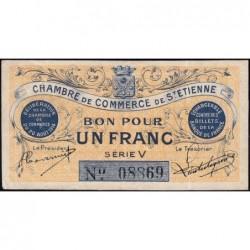 Saint-Etienne - Pirot 114-1 - 1 franc - Série V - 20/08/1914 - Etat : SUP